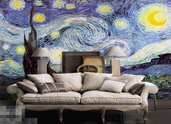 现代 >> 手绘背景墙 想象力大集合1  ( 25)    装修完发现墙面太单调?