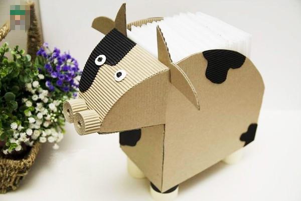 用彩纸叠牛头的步骤怎么?