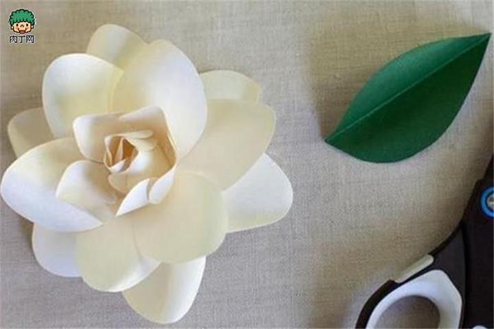 精品楼盘网--卡纸手工制作栀子花