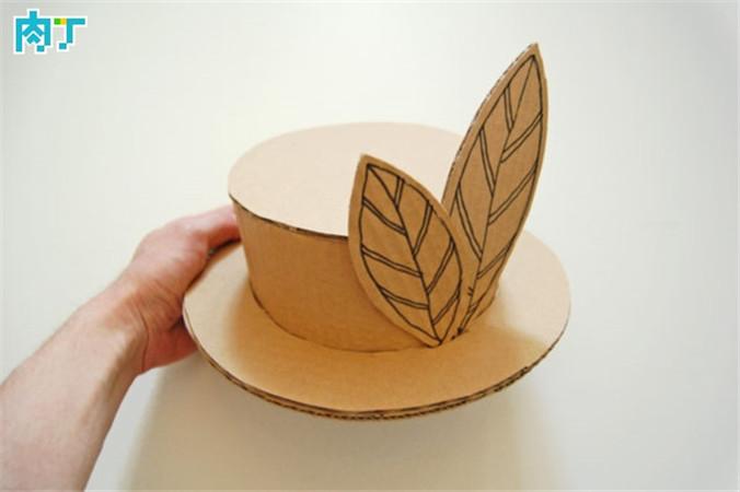 瓦楞纸纸板手工制作漂亮的儿童化妆舞会帽子(9)