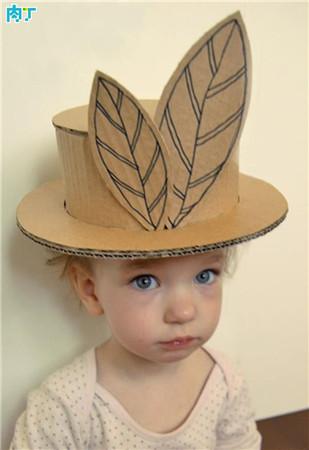 瓦楞纸纸板手工制作漂亮的儿童化妆舞会帽子