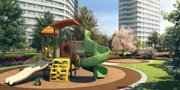 公园大道景观儿童游乐效果图