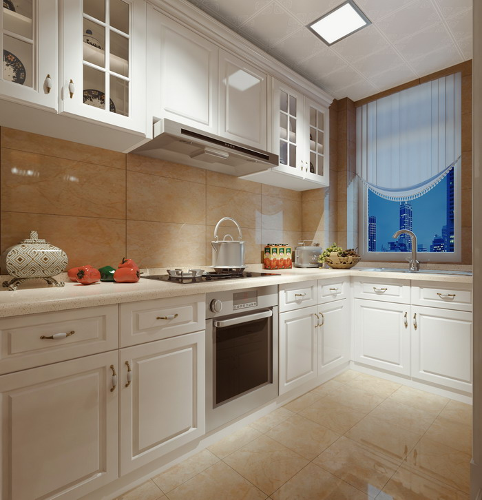 134平厨房效果图
